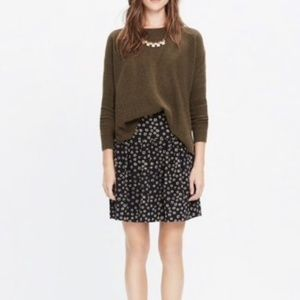 Madewell Skyline Skirt In Stencil Blossom Floral